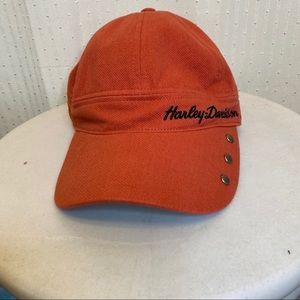 Harley Davidson orange studded adjustable hat